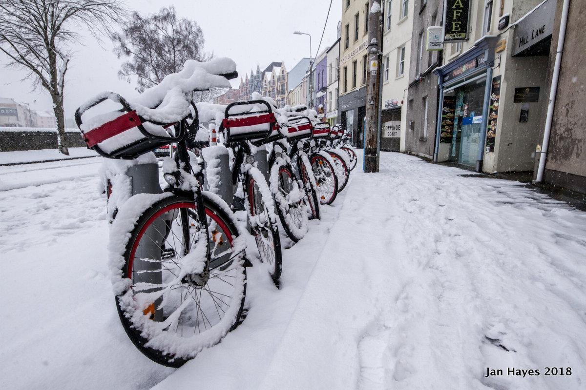 Coke Zero bikes in Pope's Quay